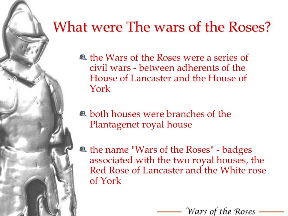 What were The wars of the Roses