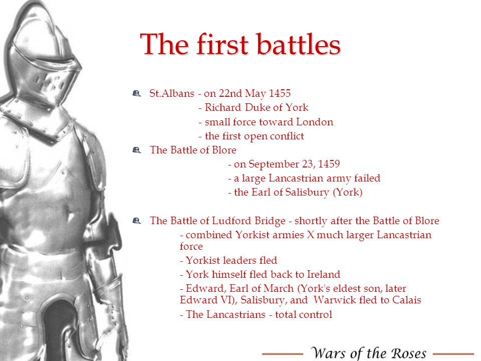 The first battles St.Albans - on 22nd May 1455 - Richard Duke of York