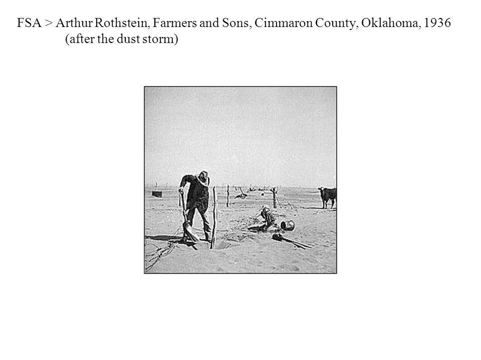 FSA > Arthur Rothstein, Farmers and Sons, Cimmaron County, Oklahoma, 1936 (after the dust storm)
