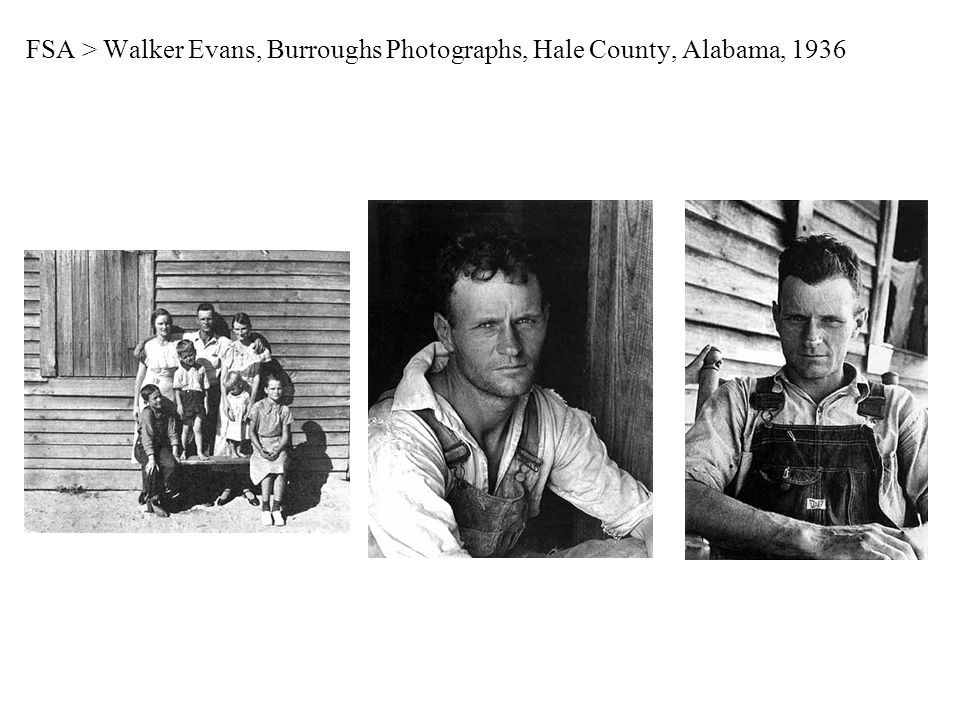 FSA > Walker Evans, Burroughs Photographs, Hale County, Alabama, 1936