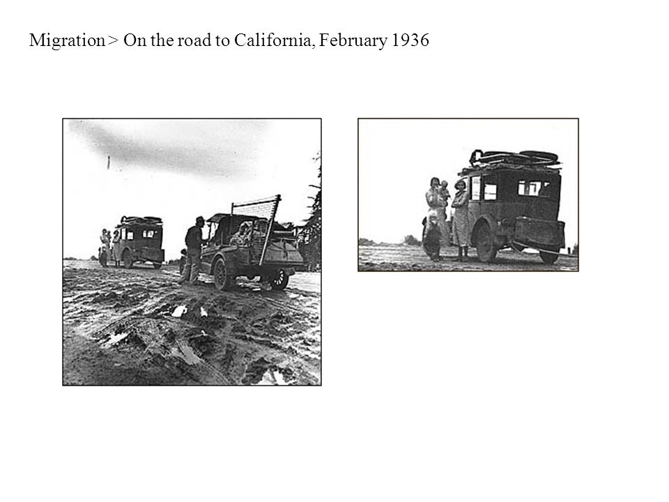 Migration > On the road to California, February 1936