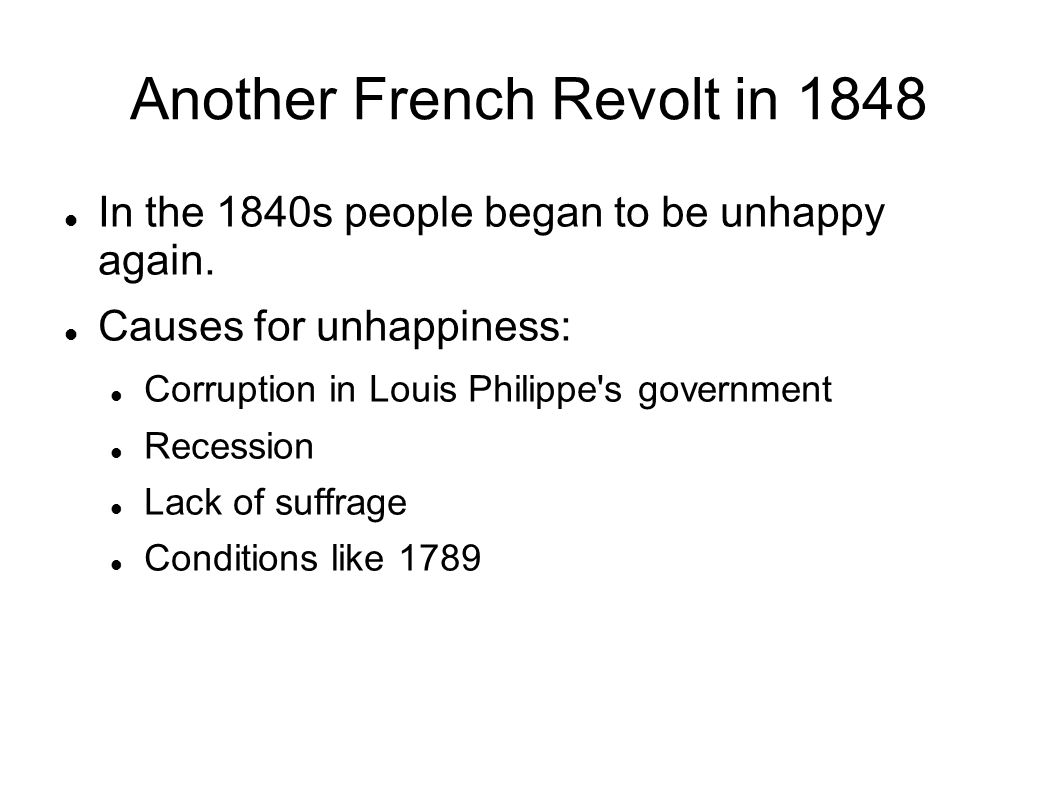 Another French Revolt in 1848