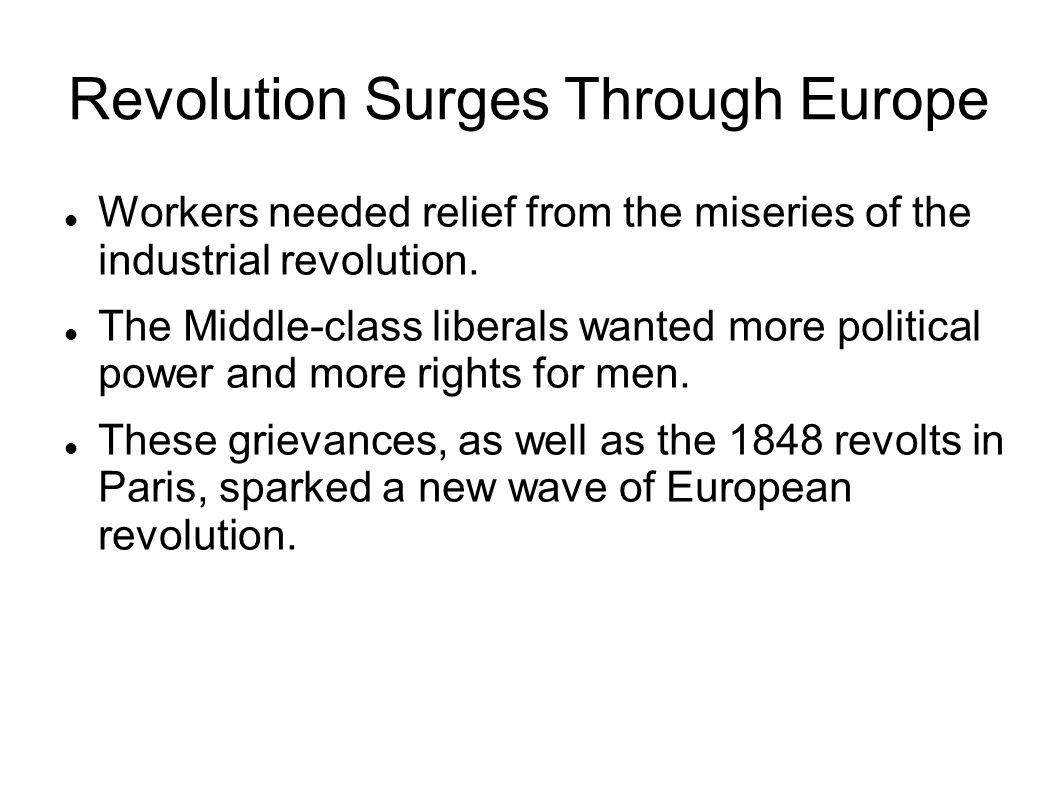 Revolution Surges Through Europe