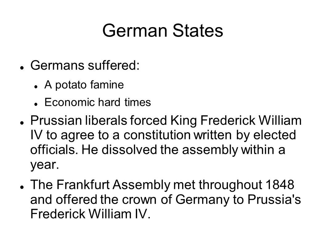 German States Germans suffered: