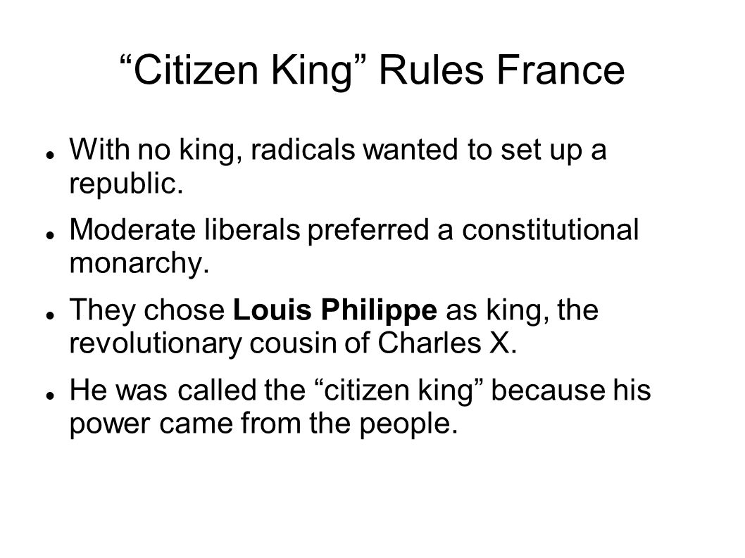 Citizen King Rules France