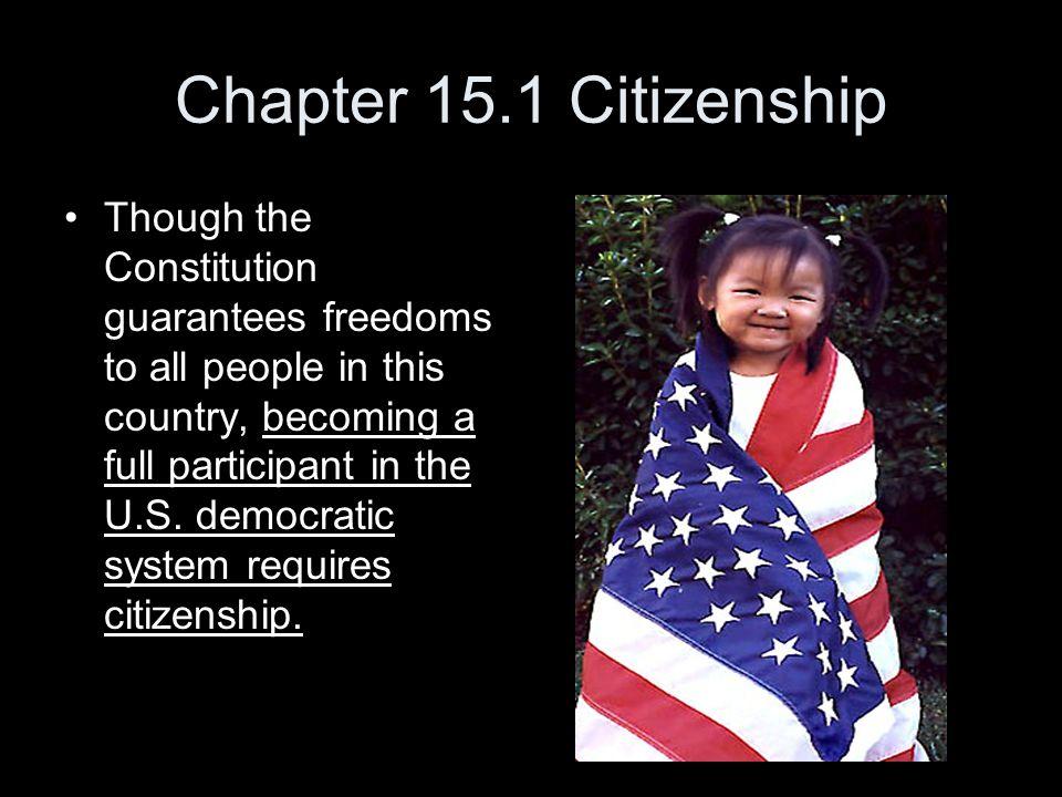 Chapter 15.1 Citizenship