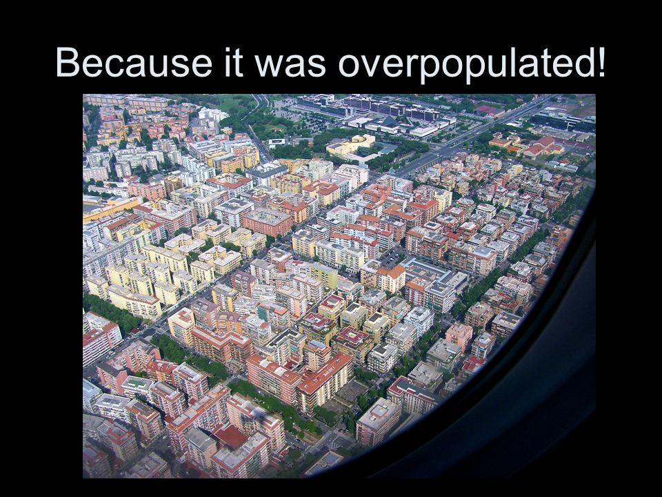 Because it was overpopulated!