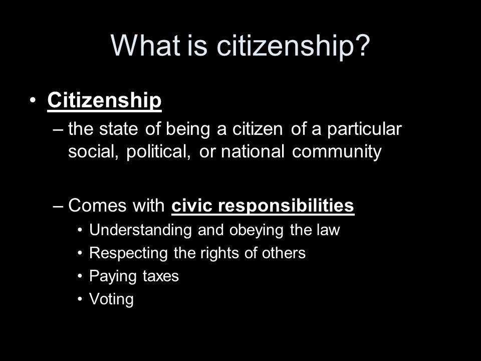 What is citizenship Citizenship