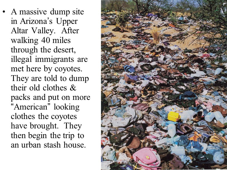 A massive dump site in Arizona's Upper Altar Valley