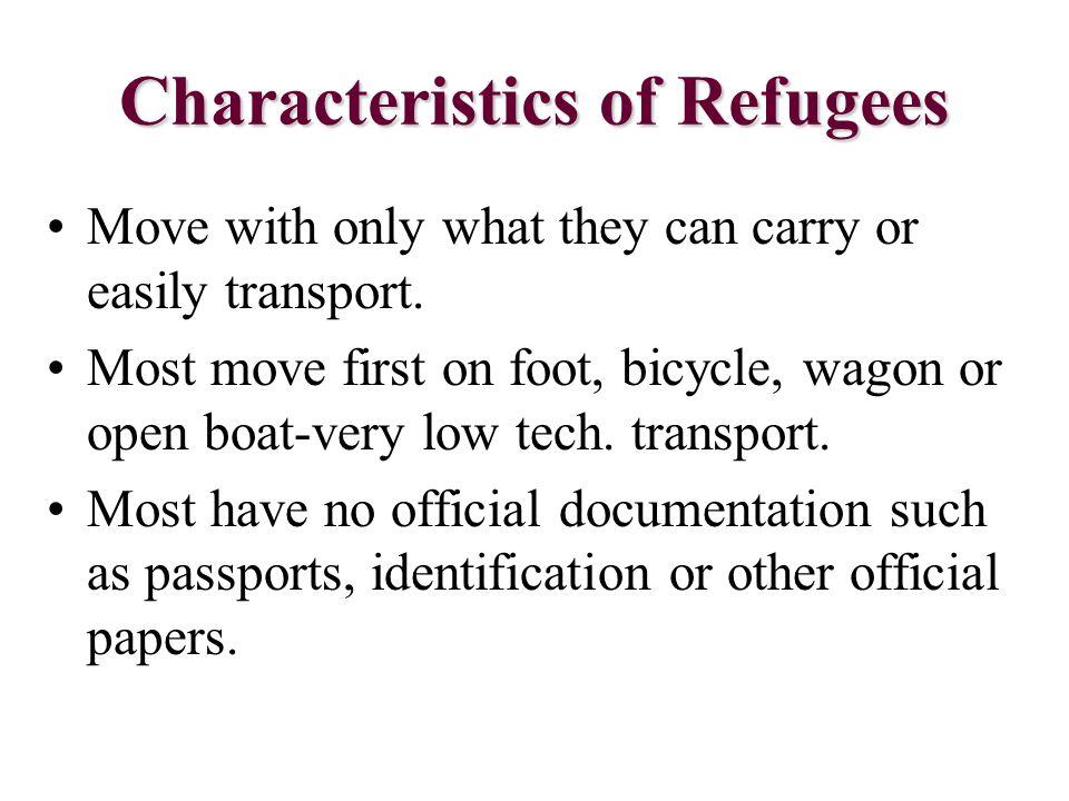 Characteristics of Refugees