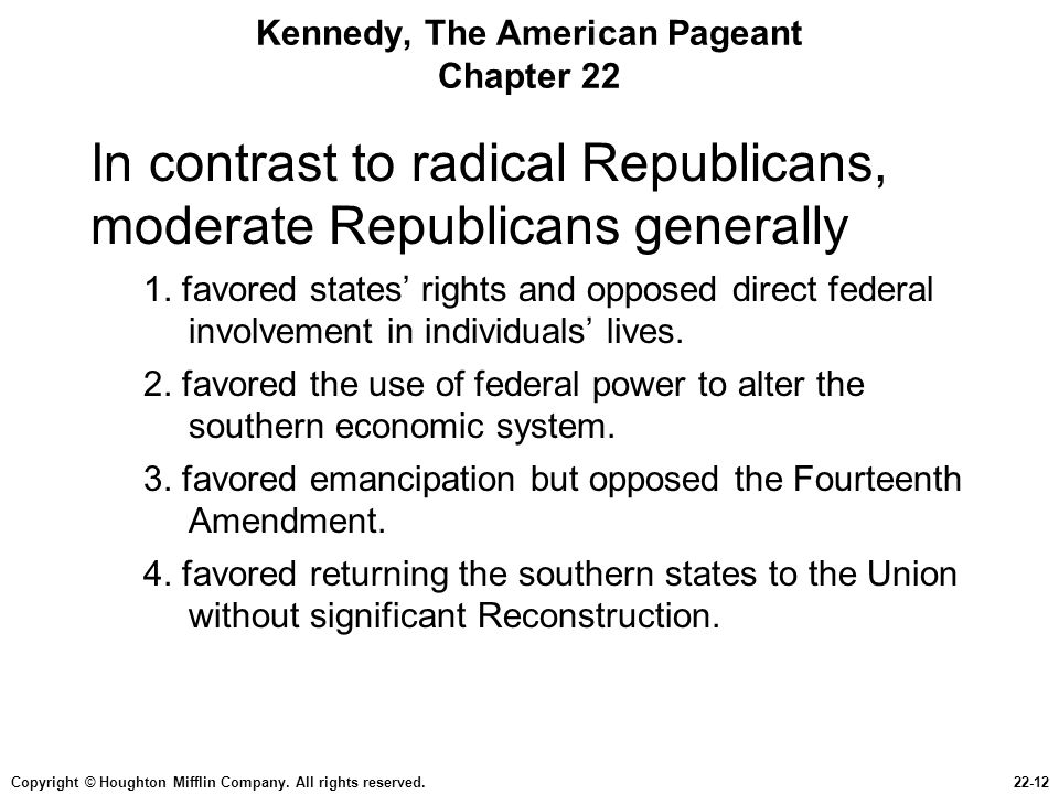 Kennedy, The American Pageant Chapter 22