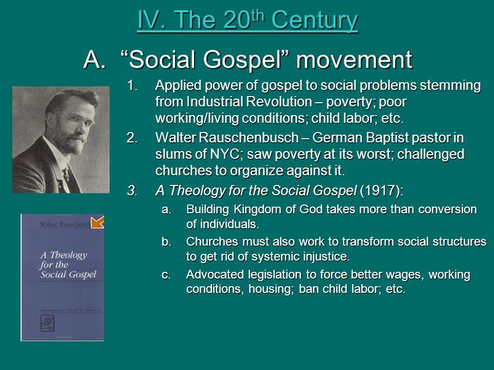 Social Gospel movement