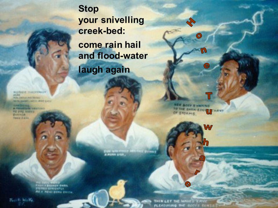 rain by hone tuwhare Lluvia poema de hone tuwhare traducido por rogelio guedea  0 comentarios  puedo escucharte haciendo pequeños agujeros en el silencio lluvia si fuera sordo.