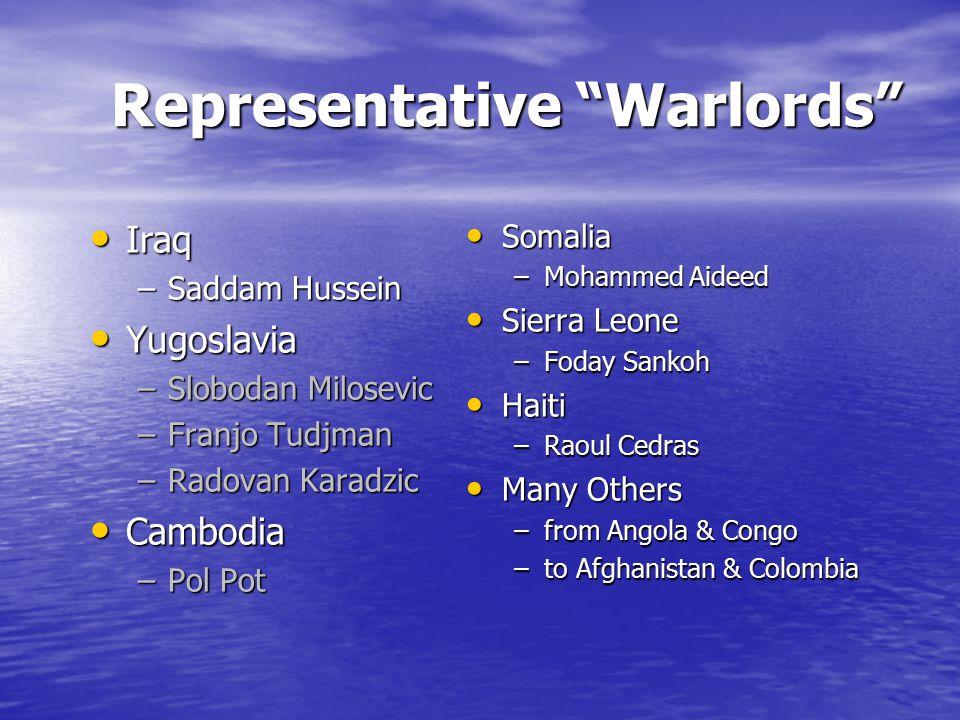 Representative Warlords