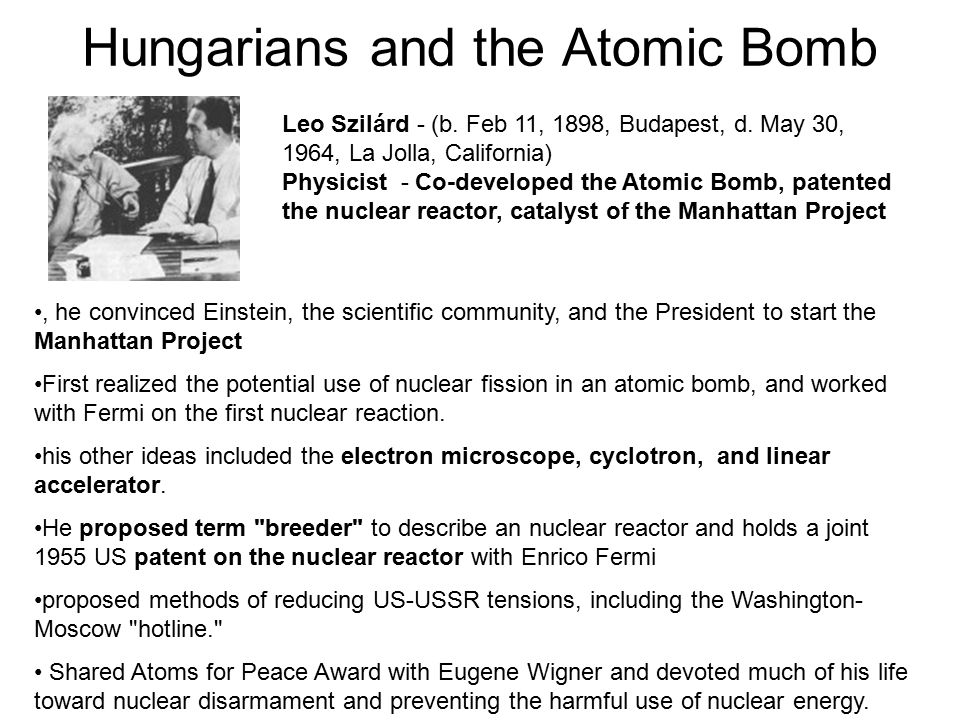 Hungarians and the Atomic Bomb