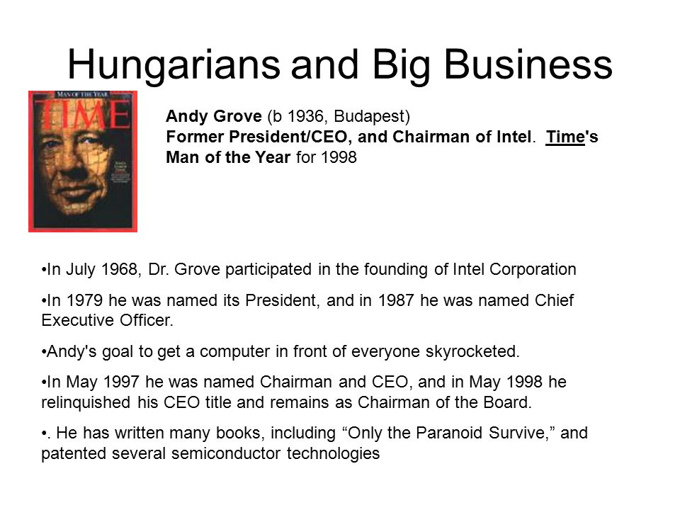 Hungarians and Big Business