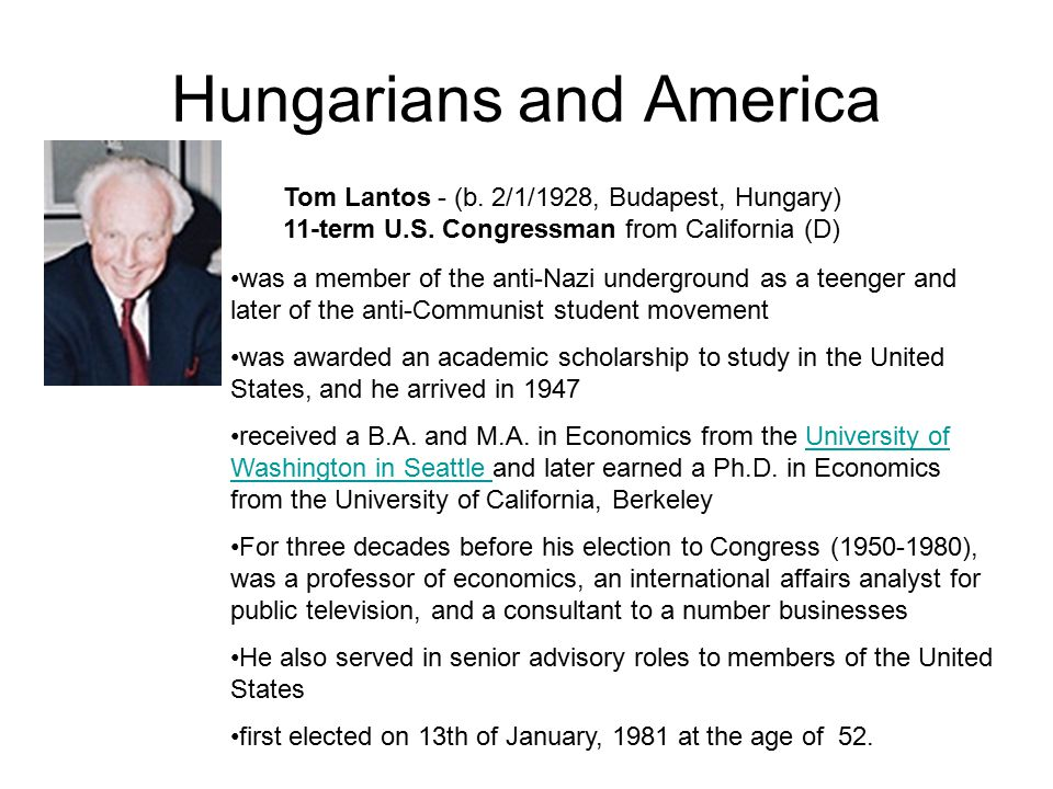Hungarians and America