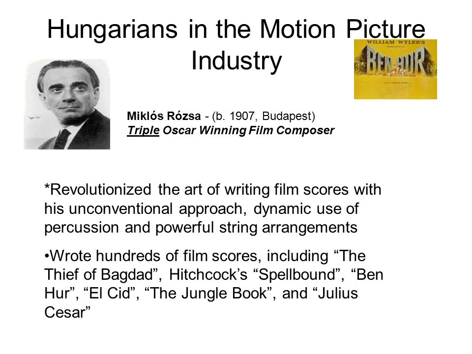 Hungarians in the Motion Picture Industry