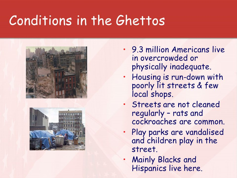 Conditions in the Ghettos
