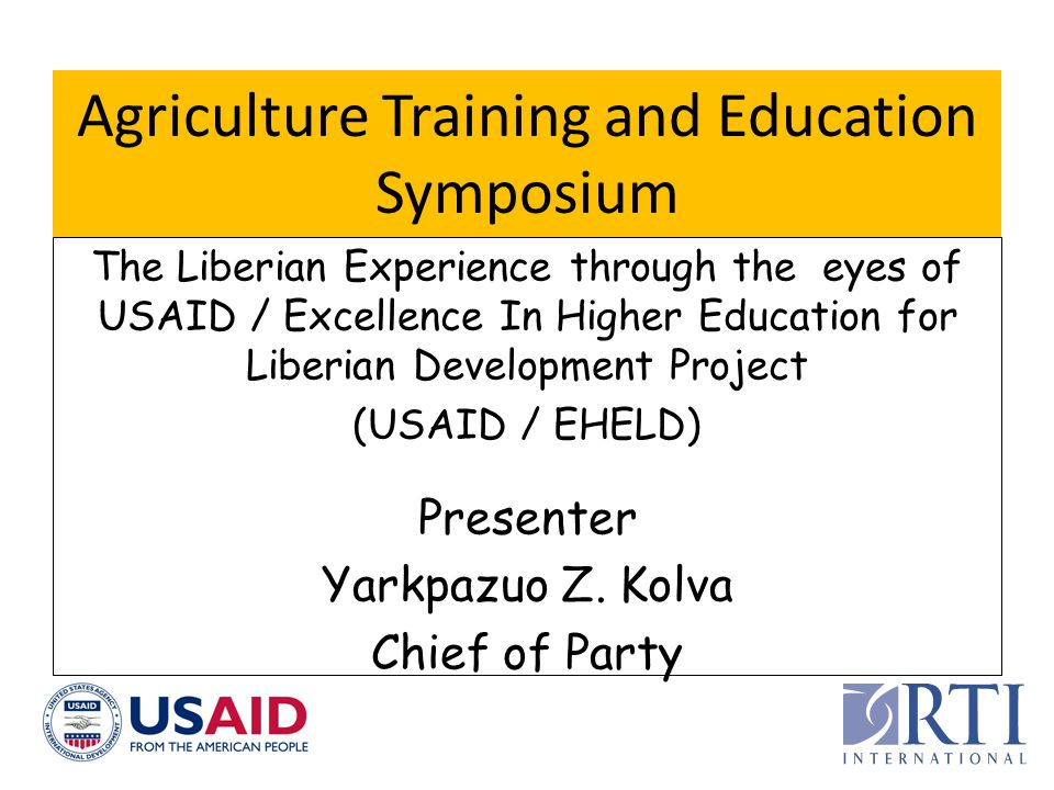 Agriculture Training and Education Symposium