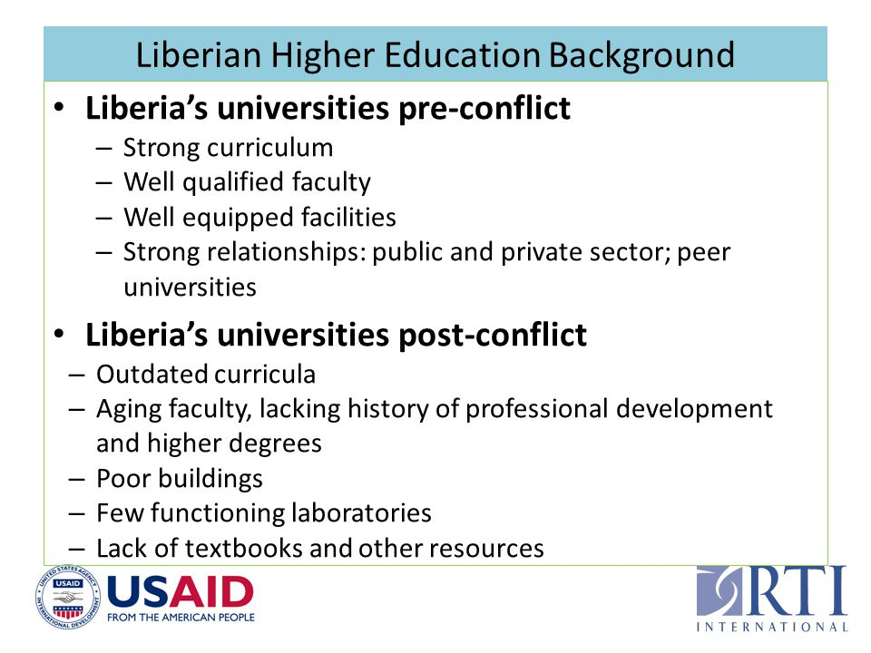 Liberian Higher Education Background