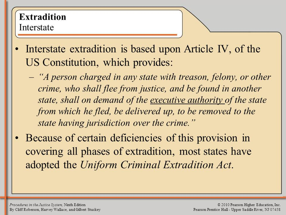 Extradition Interstate