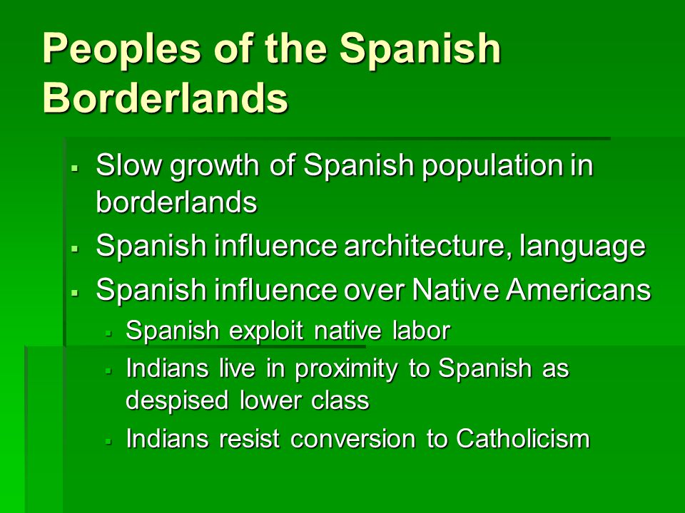 Peoples of the Spanish Borderlands