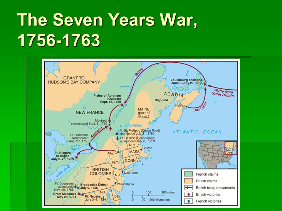 The Seven Years War, 1756-1763