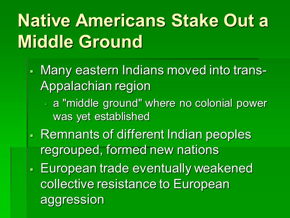 Native Americans Stake Out a Middle Ground