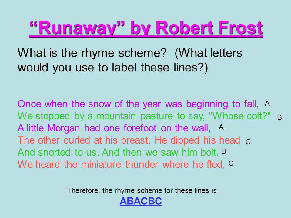 Runaway by Robert Frost