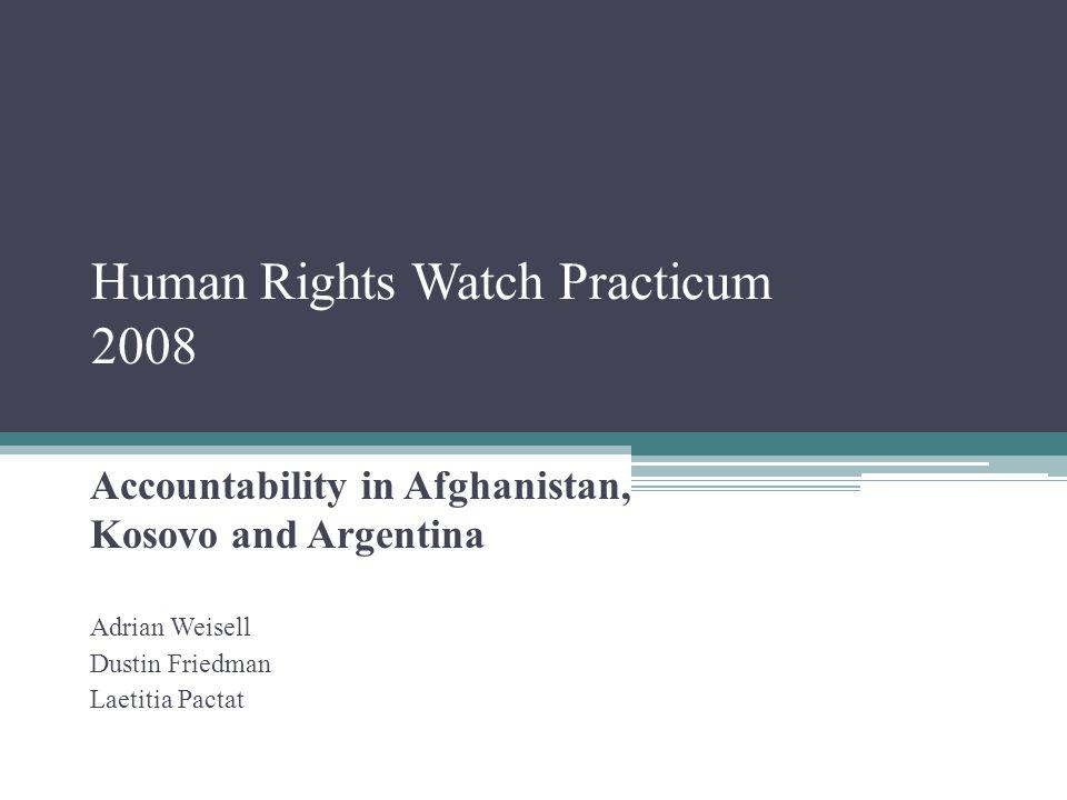 Human Rights Watch Practicum 2008