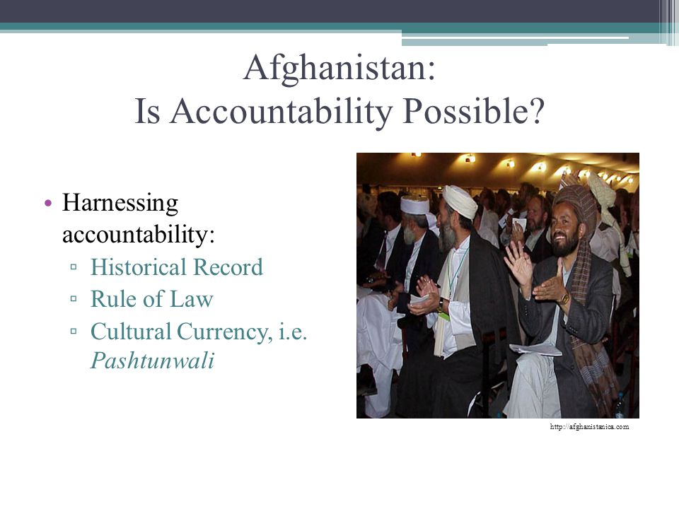 Afghanistan: Is Accountability Possible
