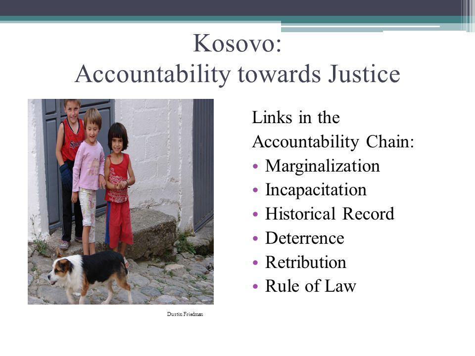 Kosovo: Accountability towards Justice