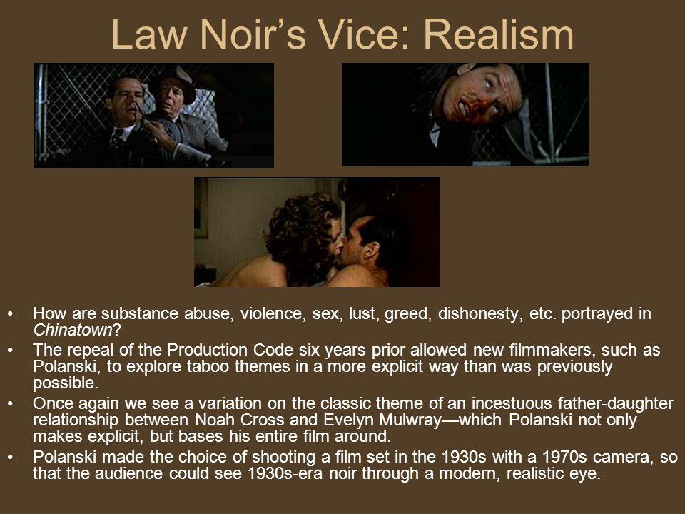Law Noir's Vice: Realism