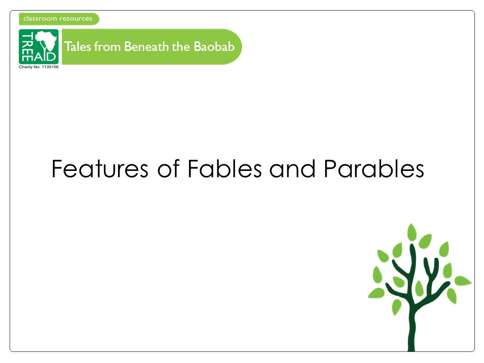 Features of Fables and Parables