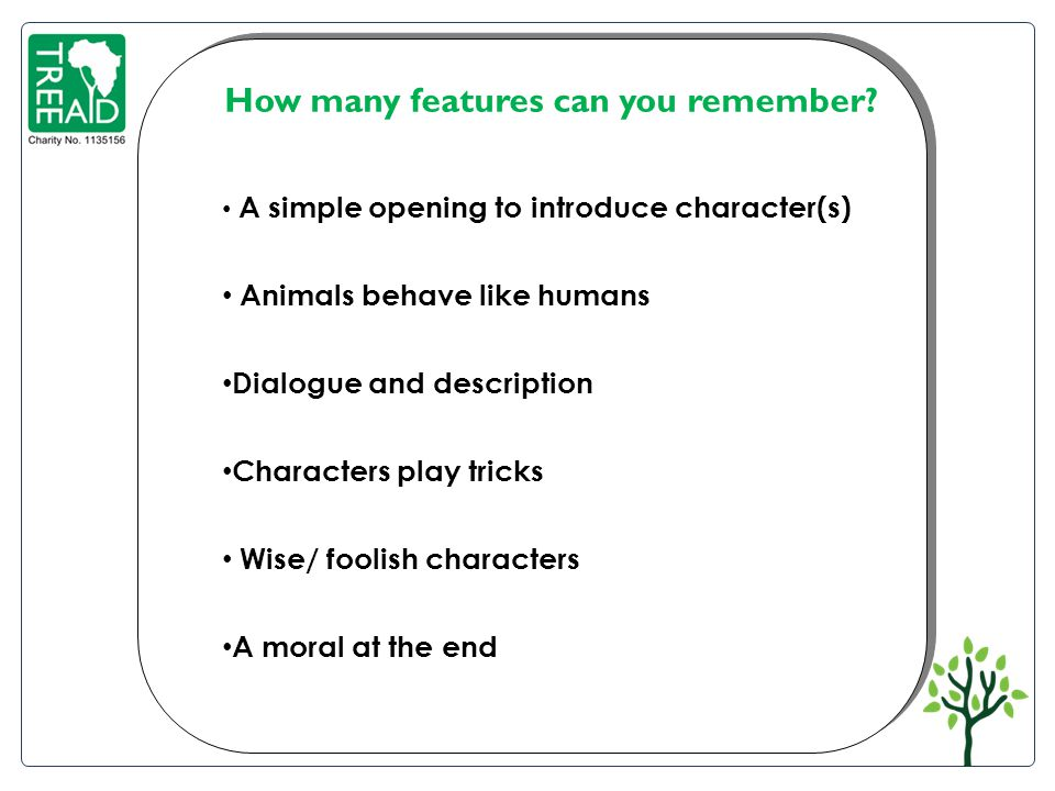 How many features can you remember