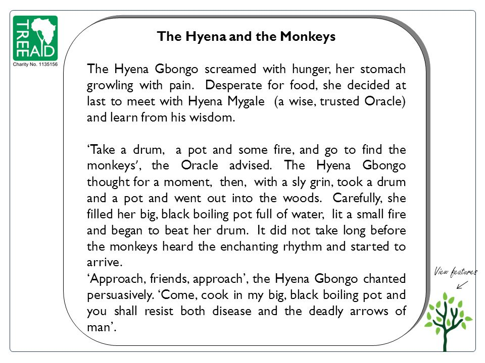The Hyena and the Monkeys