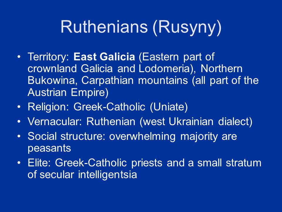 Ruthenians (Rusyny)