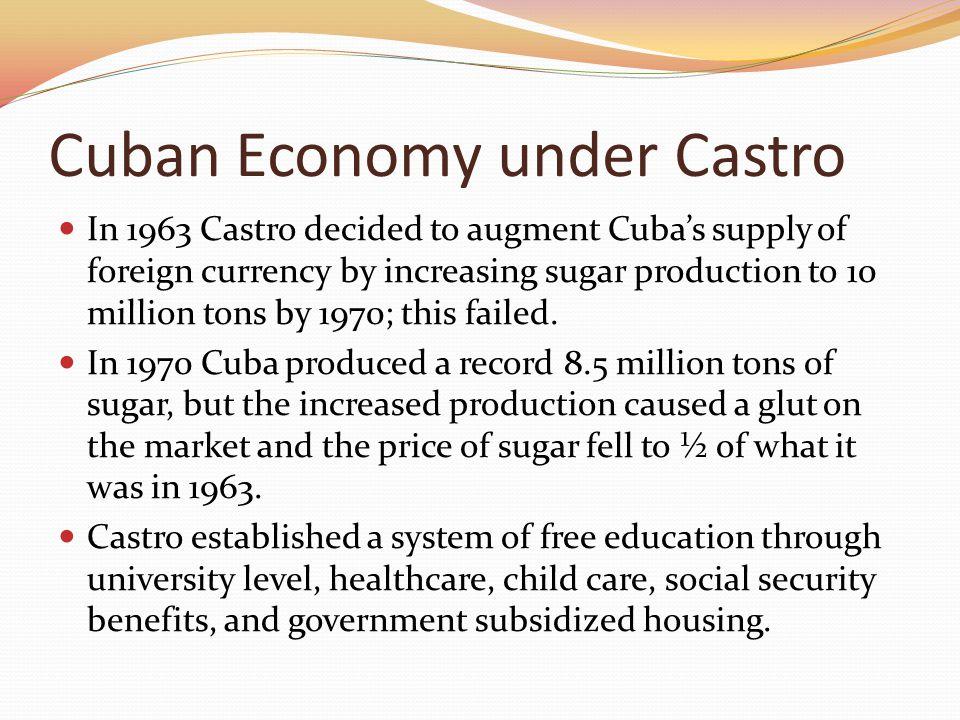 Cuban Economy under Castro