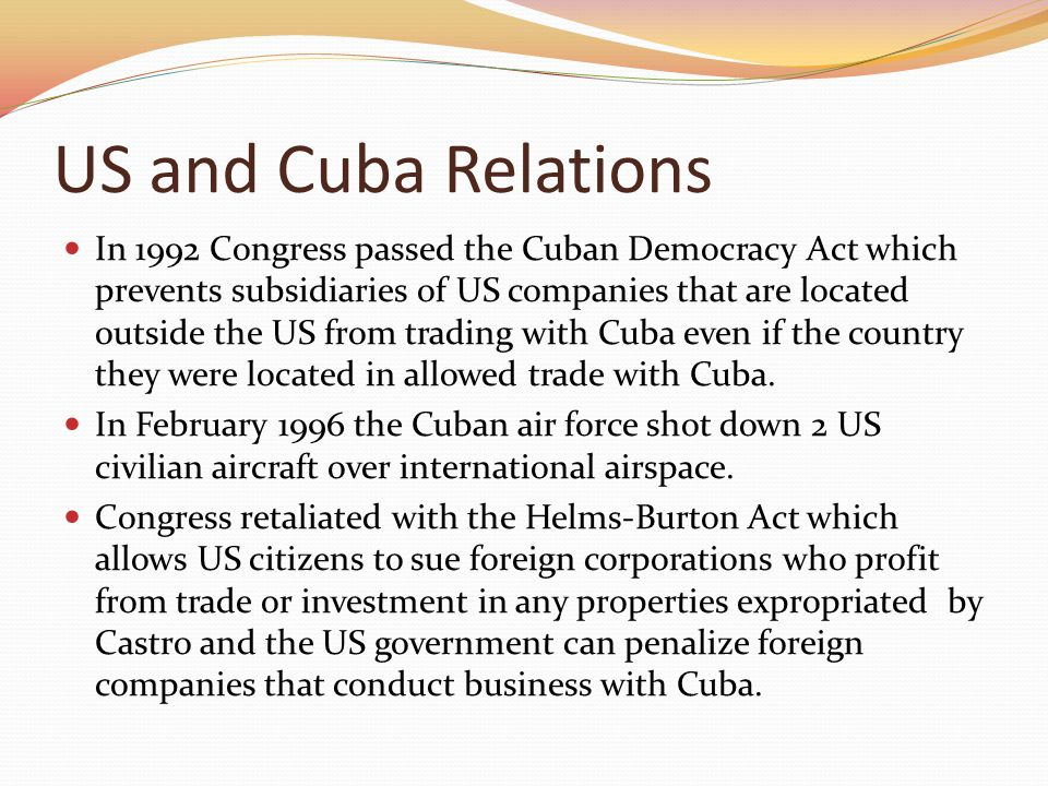 US and Cuba Relations