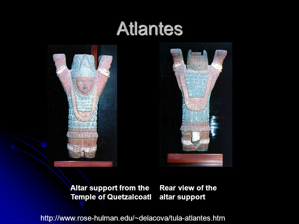 Atlantes Altar support from the Temple of Quetzalcoatl
