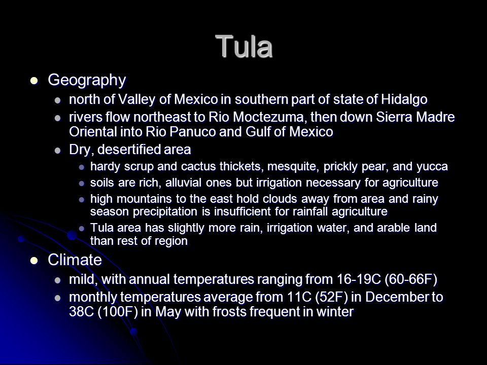 Tula Geography Climate