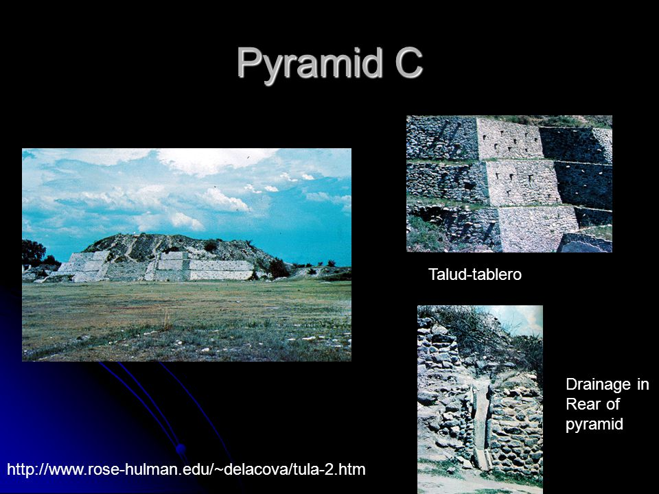 Pyramid C Talud-tablero Drainage in Rear of pyramid