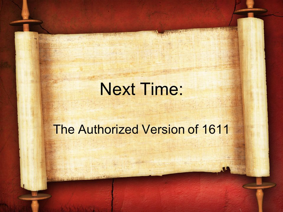 The Authorized Version of 1611
