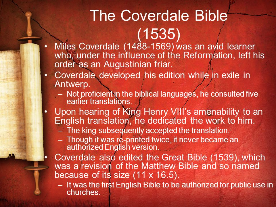 The Coverdale Bible (1535)