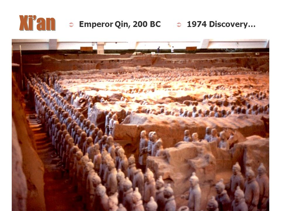 Xi'an Emperor Qin, 200 BC 1974 Discovery…