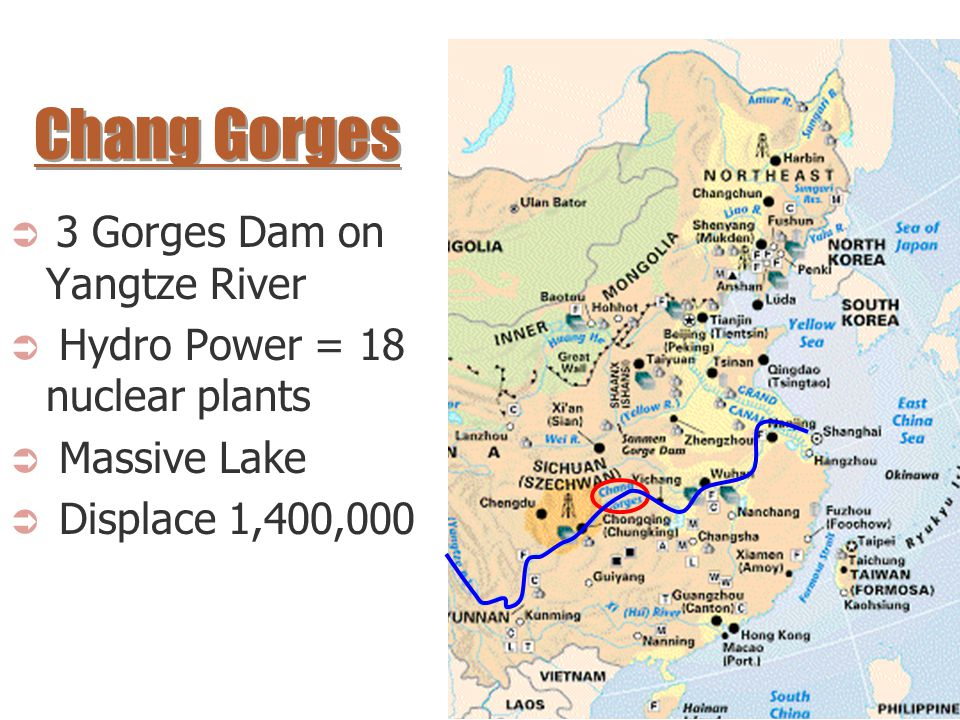 Chang Gorges 3 Gorges Dam on Yangtze River