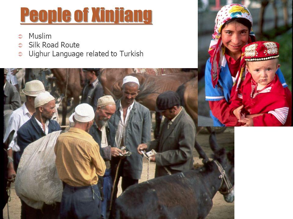 People of Xinjiang Muslim Silk Road Route