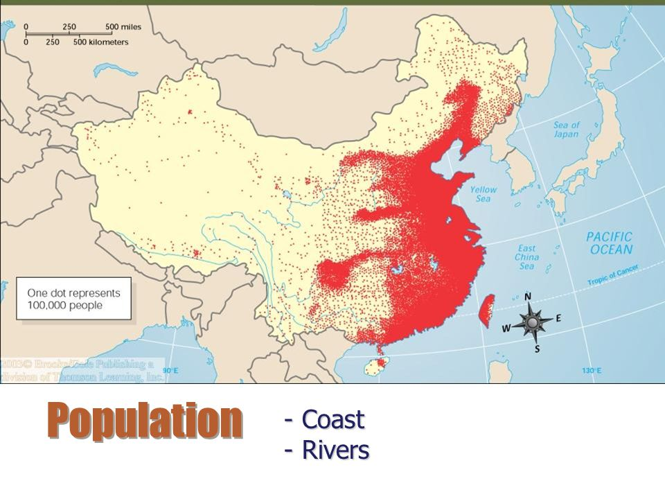 Population Coast Rivers