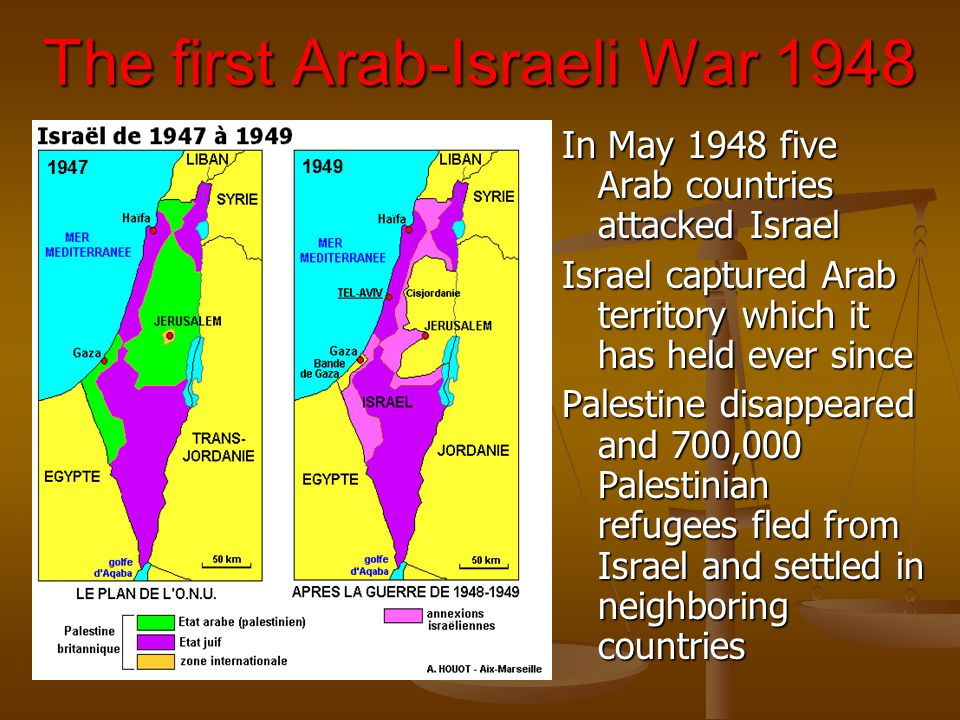 The first Arab-Israeli War 1948
